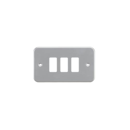 Knightsbridge Metalclad 3G grid faceplatePowder-coated  (Silver)/ (Grey)