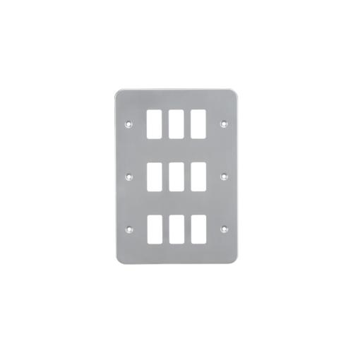 Knightsbridge Metalclad 9G grid faceplatePowder-coated  (Silver)/ (Grey)