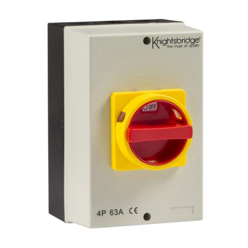 Knightsbridge 63A Rotary Isolator 4P AC (230V-415V)
