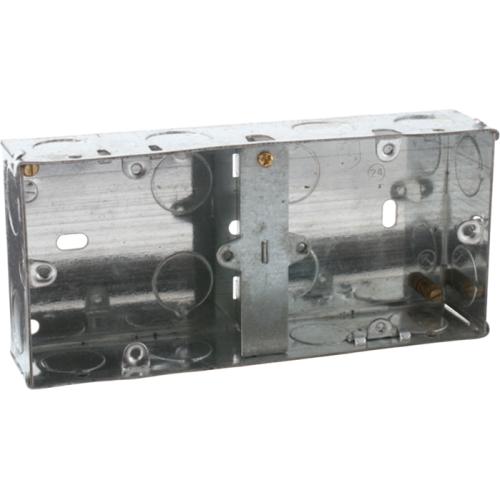 Knightsbridge 2G 35mm Dual Galvanised  (Steel) Box