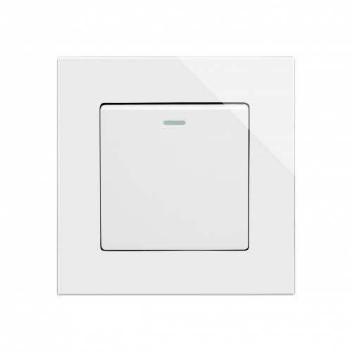Rocker Light Switch >> Retro Touch Crystal Mechanical Light Switch 1 Gang White Pg