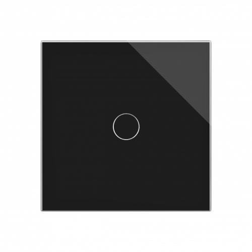 Retrotouch Crystal 1 Gang Touch Light Switch (Black PG)