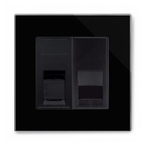 Retrotouch Crystal CAT5e / Bt Slave Socket (Black PG)