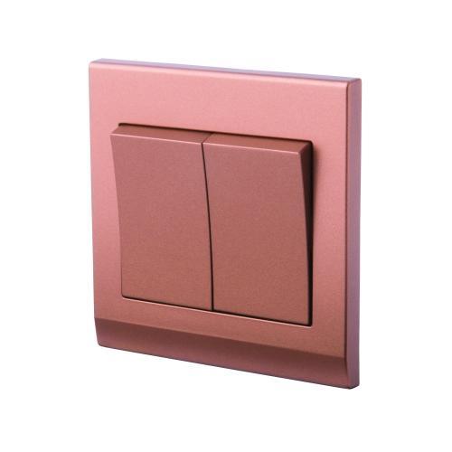 Retrotouch Simplicity 2 Gang Mechanical Light Switch (Bronze)