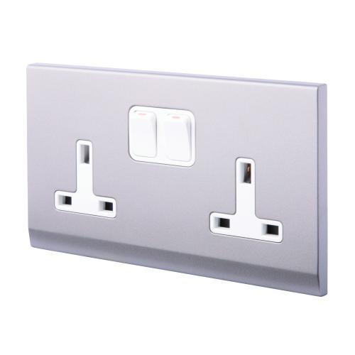 retro touch double plug socket 13a dp sockets 07442 uk. Black Bedroom Furniture Sets. Home Design Ideas