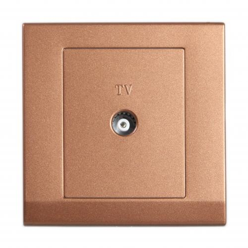 Retrotouch Simplicity Single Coaxial TV Socket (Bronze)
