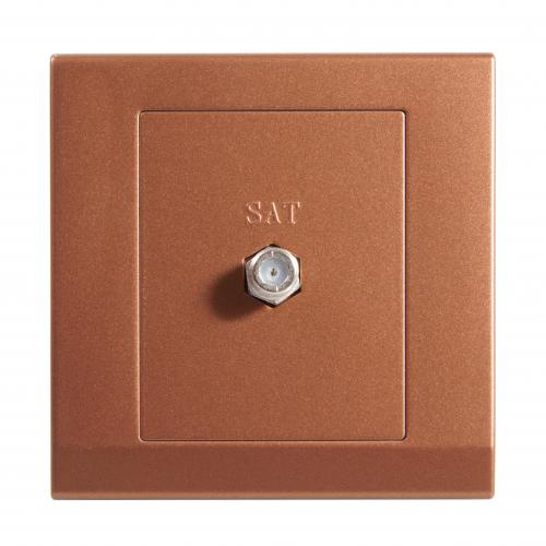 Retrotouch Simplicity Coaxial Satellite Socket (Bronze)
