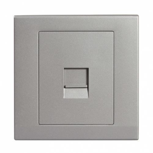Retrotouch Simplicity Single BT Master Telephone Socket (Mid Grey)