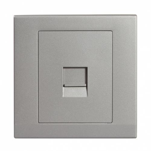 Retrotouch Simplicity Single BT Slave Telephone Socket (Mid Grey)