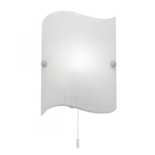 Endon Lighting Wave Glass Wall Light (Matt White)