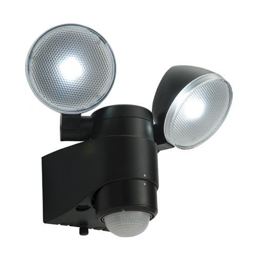 Saxby lighting laryn PIR twin, battery LED wall light, 54409 UK