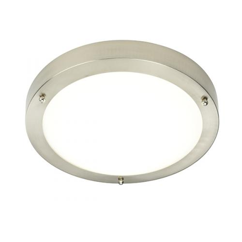 Saxby lighting portico led wall light led ceiling lights 54675 uk saxby lighting portico ip44 led ceiling light satin nickel aloadofball Image collections