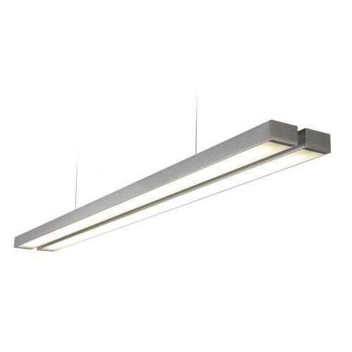 Saxby Lighting Borde Twin 26W LED Ceiling Light (Aluminium)