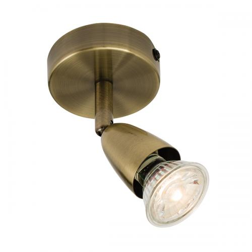 Saxby Lighting Amalfi Single Spotlight (Antique Brass)