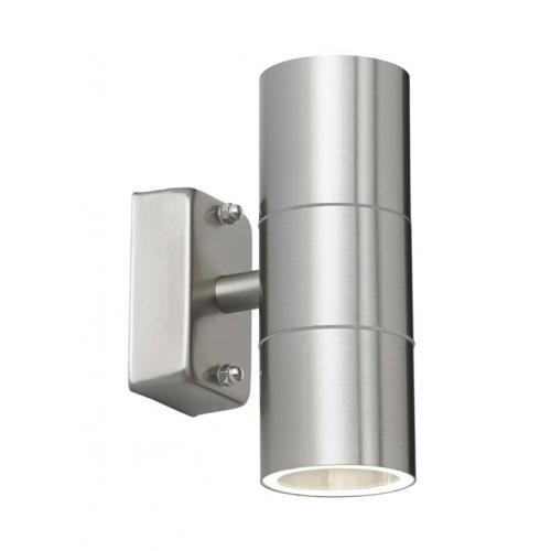 Saxby lighting canon 2lt wall ip44 35w el 40095 uk saxby lighting canon updown ip44 wall light polished stainless aloadofball Image collections