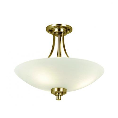 Saxby lighting welles 3lt flush 60w welles 3ab uk saxby lighting welles 3lt semi flush ceiling light antique brass aloadofball Gallery