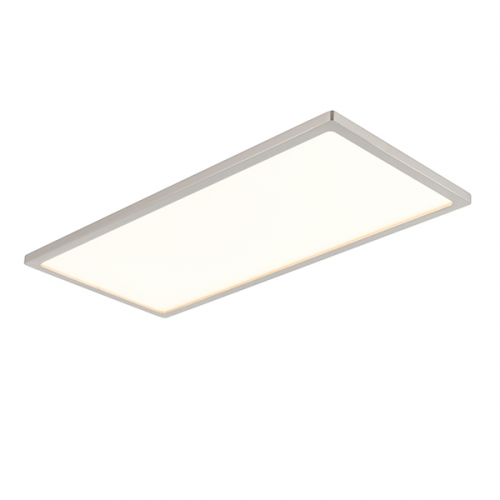 Endon ceres 450mm flush led ceiling light led panels g9446413 uk saxby lighting ceres 450mm rectangle 20w led ceiling light satin nickel aloadofball Image collections