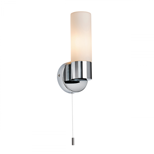 Saxby Lighting Pure 1lt wall IP44 40W SW (Chrome)