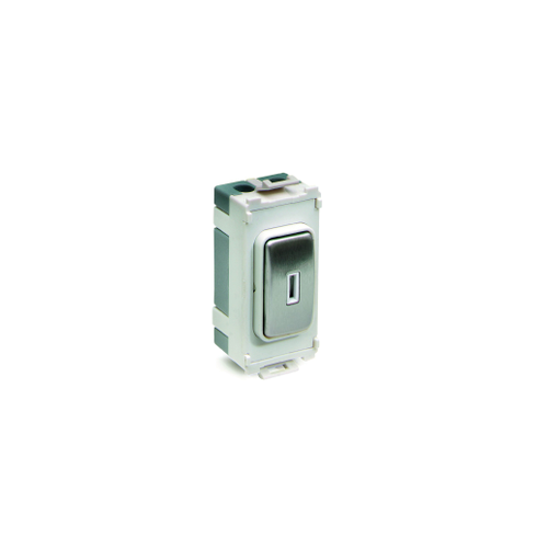 Schneider Electric Ultimate 20AX 2 Way Key Switch Grid Module (Stainless Steel)