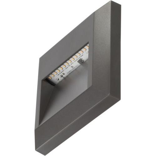 Timeguard 1.1W Square Step Light (Dark Grey)