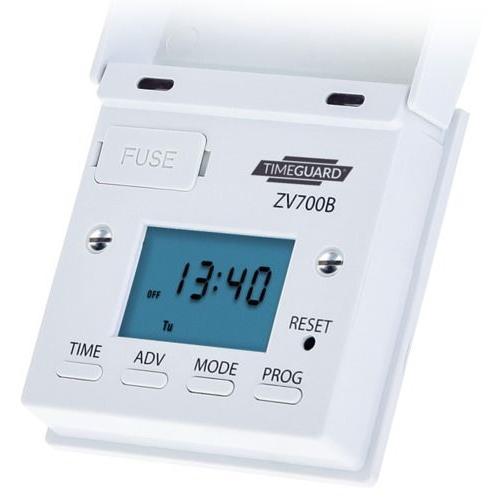 Timeguard Digital Light Switch with Optional Dusk Start (White)