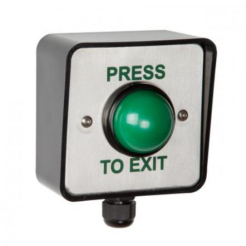 RGL Waterproof Green Button Press To Exit