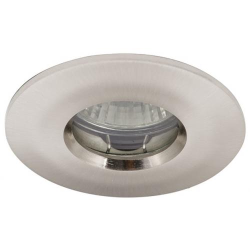 Ansell IP65 MR16/GU10 Die Cast Bathroom Downlight (Satin Chrome)