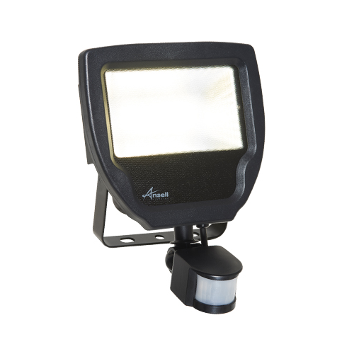 Ansell 50W Carina 3000K LED Floodlight With PIR (Cool White)