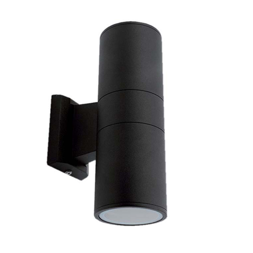 Ansell duo midi 2x50w gu10 black adm50gu10 uk ansell duo midi bi directional wall light black mozeypictures Image collections