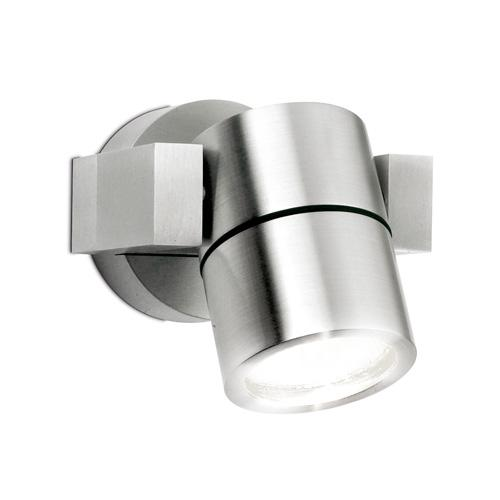 Aurora Lighting GU10 IP54 Adjustable Wall Light (Aluminium)