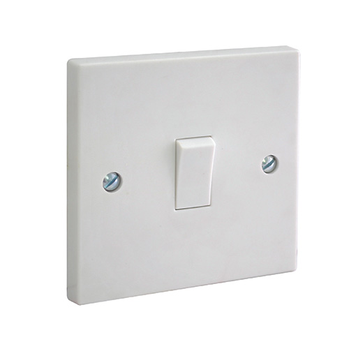 Bg Electrical 1 Gang 2 Way Plate Switch  Moulded Plateswitches  912w Uk