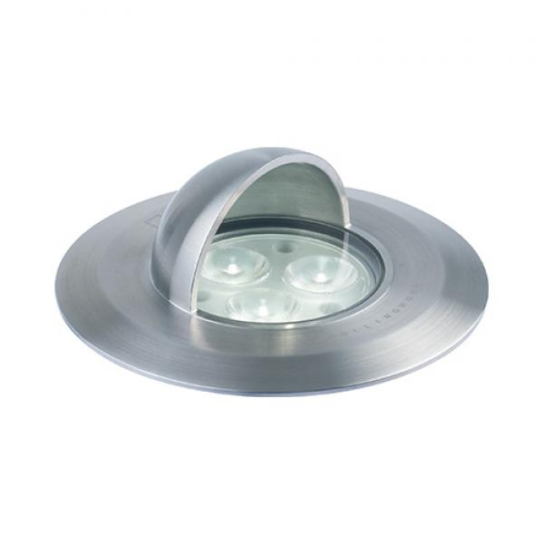 Collingwood hooded led wall groundlight stainless steel