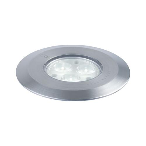 Collingwood straight to mains led ground light stainless steel