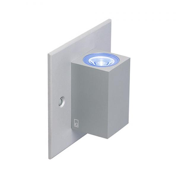 Collingwood updown led cube light interior led wall lights mc025 collingwood mains updown mini led cube wall light aluminium mozeypictures Gallery