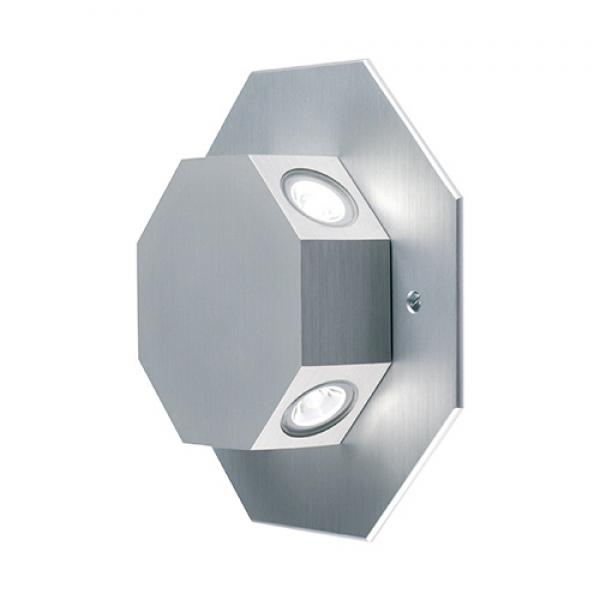 Collingwood Rotatable Octagonal LED Wall Light (Silver)