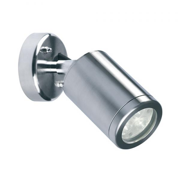 Collingwood mains led wall light exterior led lighting wl220a collingwood wall mounted 3w led spot wall light aluminium aloadofball Images