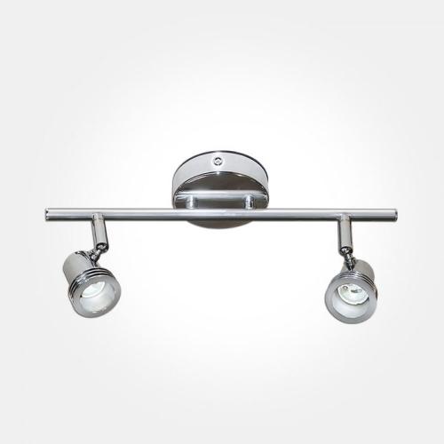 Eterna GU10 Twin Spotlight Bar (Polished Chrome)