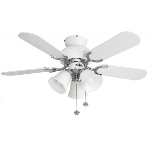 Fantasia Capri Combi 36 Inch Ceiling Fan with Light White/belmont Light Kit (White)