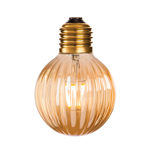 Firstlight 4916 Decorative LED Vintage Filament Bulbs with Amber Glass (4W Edison Screw)