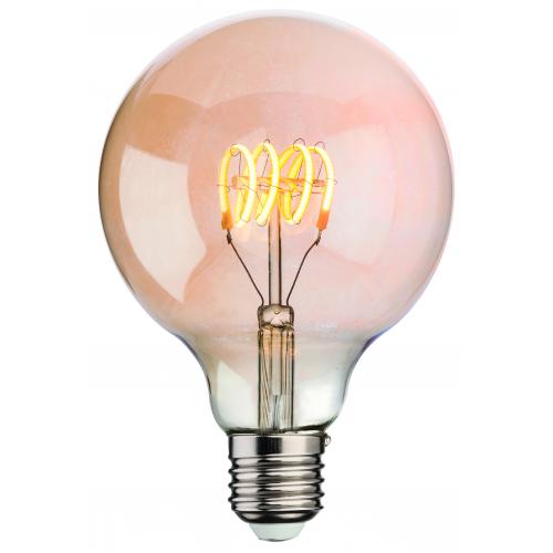 Firstlight LED Vintage Lamp Amber Glass