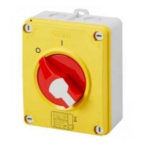 Gewiss 32A 2 Pole IP65 Rotary Switch (Red)