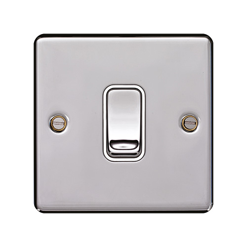 Hager 10AX 1 Gang 2 Way Wall Switch (Polished Steel)  sc 1 st  Direct Trade Supplies : hager wiring accessories - yogabreezes.com