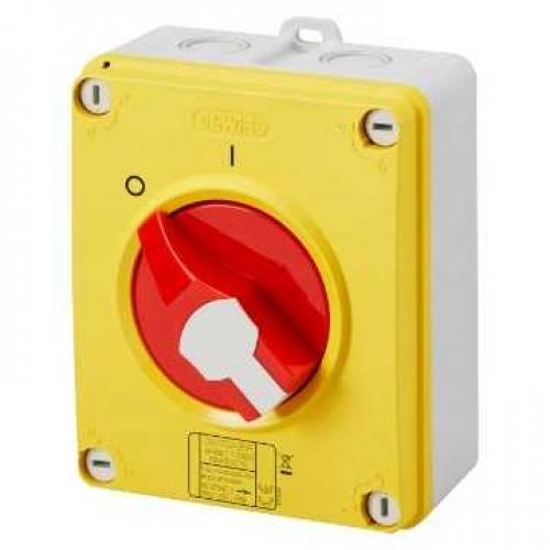 Gewiss 32A 4 Pole IP65 Rotary Switch (Red)