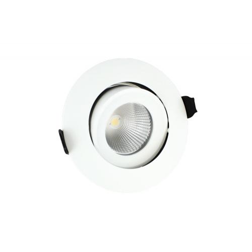 Integral 92mm 11W 4000K Fire Rated Tiltable LED Downlight (Matt White)