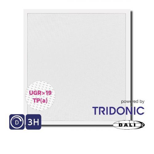 NET LED Kingston UGR 19 Tri-colour Pnl 600x600 30W Tp(a) Dimmable Emergency