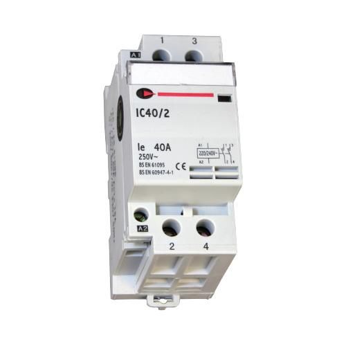 Lewden 40A 2 Pole Contactor (White)