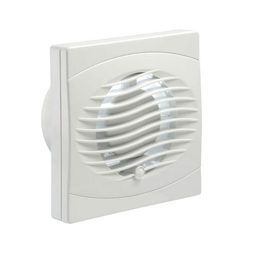Manrose 4 Inch Axial Fan with Pull Cord (White)