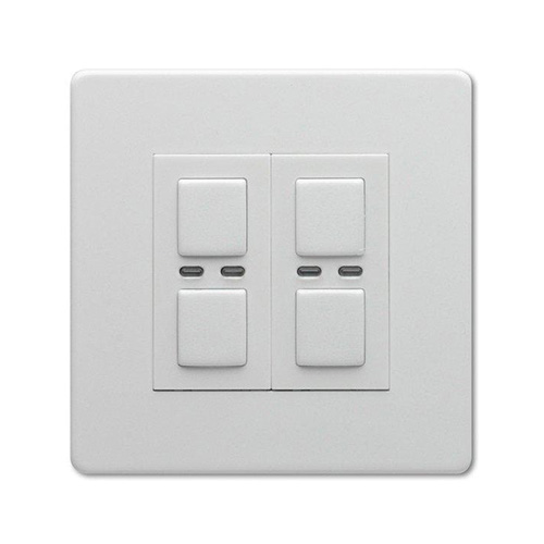 LightwaveRF 250W 2 gang dimmer switch, dimmer switches, JSJSLW420WH UK