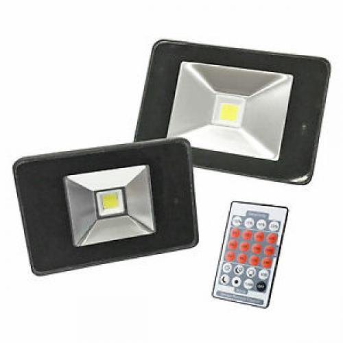 DTS 30W IP65 Slimline LED Floodlight With Microwave Sensor (Black)