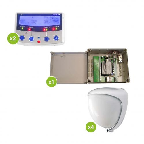 Mini Opal Wholesale Lighting Kit (4xMiniOpal; 2xDygizone; 1 X 4Zone Exp) White controller